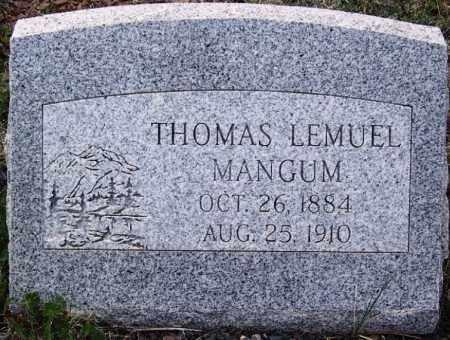 MANGUM, THOMAS LEMUEL - Apache County, Arizona | THOMAS LEMUEL MANGUM - Arizona Gravestone Photos