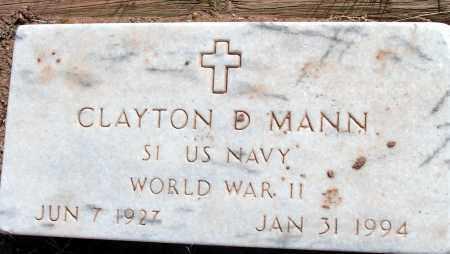 MANN, CLAYTON D. - Apache County, Arizona   CLAYTON D. MANN - Arizona Gravestone Photos