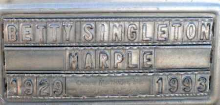 SINGLETON MARPLE, BETTY - Apache County, Arizona | BETTY SINGLETON MARPLE - Arizona Gravestone Photos