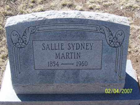 MARTIN, SALLIE SYDNEY - Apache County, Arizona | SALLIE SYDNEY MARTIN - Arizona Gravestone Photos