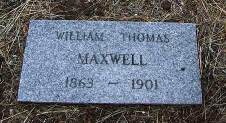 MAXWELL, WILLIAM THOMAS - Apache County, Arizona   WILLIAM THOMAS MAXWELL - Arizona Gravestone Photos