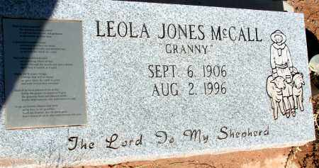 MCCALL, LEOLA JONES - Apache County, Arizona | LEOLA JONES MCCALL - Arizona Gravestone Photos