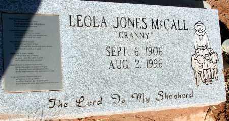 MCCALL, LEOLA JONES - Apache County, Arizona   LEOLA JONES MCCALL - Arizona Gravestone Photos