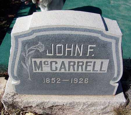 MCCARELL, JOHN F - Apache County, Arizona | JOHN F MCCARELL - Arizona Gravestone Photos