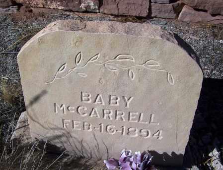 MCCARRELL, BABY - Apache County, Arizona   BABY MCCARRELL - Arizona Gravestone Photos