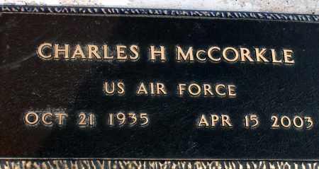 MCCORKLE, CHARLES H. - Apache County, Arizona | CHARLES H. MCCORKLE - Arizona Gravestone Photos