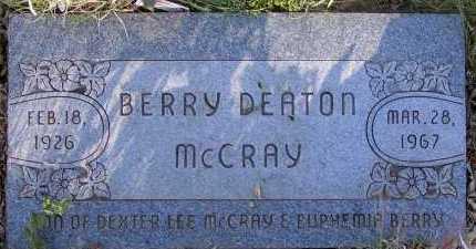 MCCRAY, BERRY DEATON - Apache County, Arizona   BERRY DEATON MCCRAY - Arizona Gravestone Photos