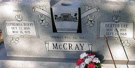 MCCRAY, DEXTER LEE - Apache County, Arizona | DEXTER LEE MCCRAY - Arizona Gravestone Photos
