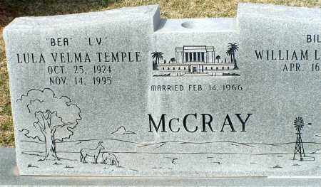 TEMPLE MCCRAY, LULA VELMA - Apache County, Arizona | LULA VELMA TEMPLE MCCRAY - Arizona Gravestone Photos