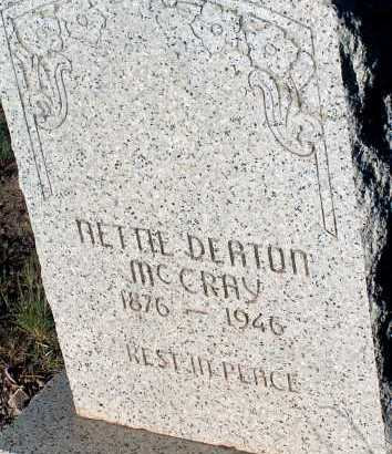 MCCRAY, NETTIE DEATON - Apache County, Arizona | NETTIE DEATON MCCRAY - Arizona Gravestone Photos