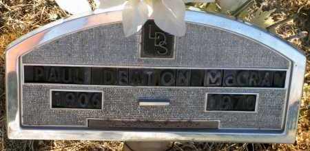 MCCRAY, PAUL DEATON - Apache County, Arizona | PAUL DEATON MCCRAY - Arizona Gravestone Photos