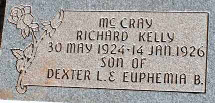 MCCRAY, RICHARD KELLY - Apache County, Arizona | RICHARD KELLY MCCRAY - Arizona Gravestone Photos