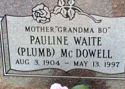 MCDOWELL, PAULINE WAITE PLUMB - Apache County, Arizona | PAULINE WAITE PLUMB MCDOWELL - Arizona Gravestone Photos
