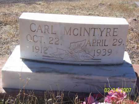 MCINTYRE, CARL - Apache County, Arizona | CARL MCINTYRE - Arizona Gravestone Photos