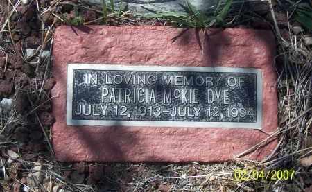 MCKIE, PATRICIA - Apache County, Arizona | PATRICIA MCKIE - Arizona Gravestone Photos