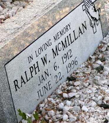 MCMILLAN, RALPH W. - Apache County, Arizona | RALPH W. MCMILLAN - Arizona Gravestone Photos