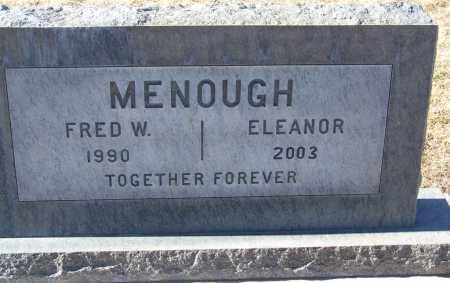 MENOUGH, FRED W - Apache County, Arizona | FRED W MENOUGH - Arizona Gravestone Photos