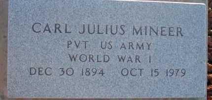 MINEER, CARL JULIUS - Apache County, Arizona   CARL JULIUS MINEER - Arizona Gravestone Photos
