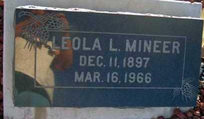 MINEER, LEOLA L. - Apache County, Arizona | LEOLA L. MINEER - Arizona Gravestone Photos
