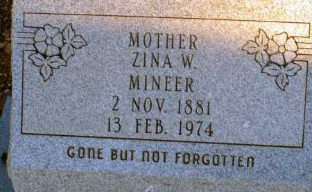 MINEER, ZINA W. - Apache County, Arizona | ZINA W. MINEER - Arizona Gravestone Photos