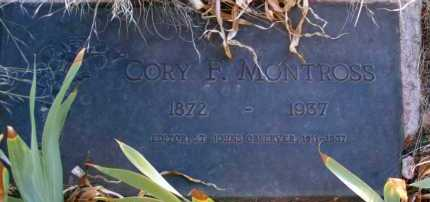 MONTROSS, CORY F. - Apache County, Arizona | CORY F. MONTROSS - Arizona Gravestone Photos