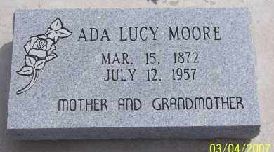 MOORE, ADA LUCY - Apache County, Arizona | ADA LUCY MOORE - Arizona Gravestone Photos