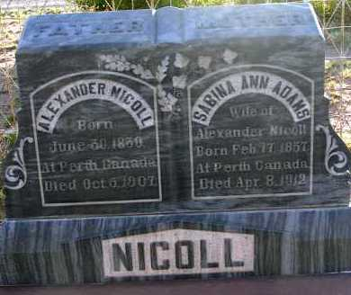 ADAMS NICOLL, SABINA ANN - Apache County, Arizona | SABINA ANN ADAMS NICOLL - Arizona Gravestone Photos