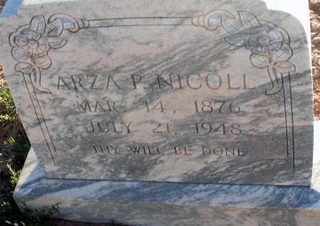 NICOLL, ARZA P. - Apache County, Arizona | ARZA P. NICOLL - Arizona Gravestone Photos