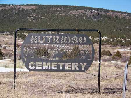 NUTRIOSO, CEMETERY SIGN - Apache County, Arizona | CEMETERY SIGN NUTRIOSO - Arizona Gravestone Photos