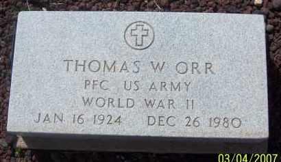 ORR, THOMAS W - Apache County, Arizona   THOMAS W ORR - Arizona Gravestone Photos