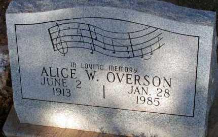 OVERSON, ALICE W. - Apache County, Arizona | ALICE W. OVERSON - Arizona Gravestone Photos