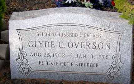 OVERSON, CLYDE C. - Apache County, Arizona   CLYDE C. OVERSON - Arizona Gravestone Photos