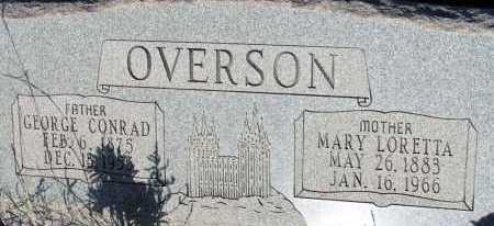 OVERSON, GEORGE CONRAD - Apache County, Arizona | GEORGE CONRAD OVERSON - Arizona Gravestone Photos
