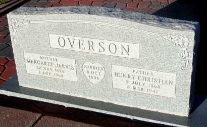 JARVIS OVERSON, MARGARET - Apache County, Arizona | MARGARET JARVIS OVERSON - Arizona Gravestone Photos