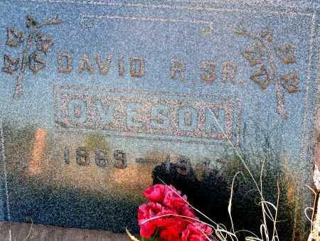 OVESON, DAVID R. SR. - Apache County, Arizona   DAVID R. SR. OVESON - Arizona Gravestone Photos
