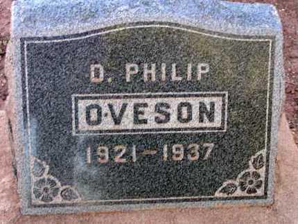 OVESON, D. PHILIP - Apache County, Arizona | D. PHILIP OVESON - Arizona Gravestone Photos