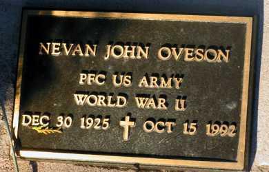 OVESON, NEVAN JOHN - Apache County, Arizona | NEVAN JOHN OVESON - Arizona Gravestone Photos