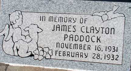 PADDOCK, JAMES CLAYTON - Apache County, Arizona | JAMES CLAYTON PADDOCK - Arizona Gravestone Photos