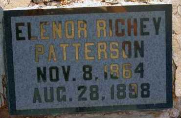 PATTERSON, ELENOR RICHEY - Apache County, Arizona | ELENOR RICHEY PATTERSON - Arizona Gravestone Photos