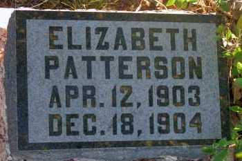 PATTERSON, ELIZABETH - Apache County, Arizona   ELIZABETH PATTERSON - Arizona Gravestone Photos