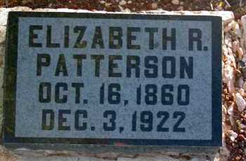 PATTERSON, ELIZABETH R. - Apache County, Arizona | ELIZABETH R. PATTERSON - Arizona Gravestone Photos