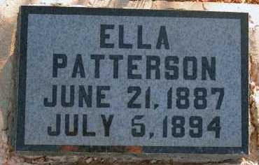 PATTERSON, ELLA - Apache County, Arizona | ELLA PATTERSON - Arizona Gravestone Photos