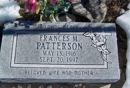 PATTERSON, FRANCES M - Apache County, Arizona | FRANCES M PATTERSON - Arizona Gravestone Photos