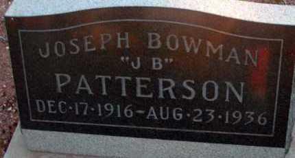 PATTERSON, JOSEPH BOWMAN - Apache County, Arizona | JOSEPH BOWMAN PATTERSON - Arizona Gravestone Photos