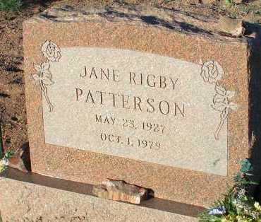 PATTERSON, JANE RIGBY - Apache County, Arizona | JANE RIGBY PATTERSON - Arizona Gravestone Photos