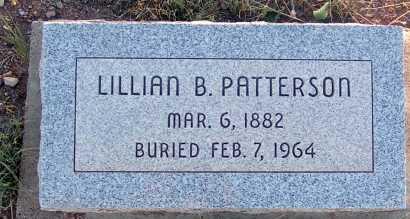 PATTERSON, LILLIAN B. - Apache County, Arizona | LILLIAN B. PATTERSON - Arizona Gravestone Photos