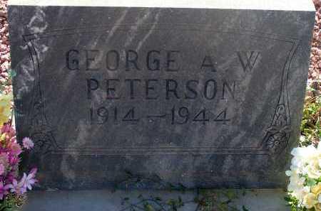 PETERSON, GEORGE A.W. - Apache County, Arizona | GEORGE A.W. PETERSON - Arizona Gravestone Photos