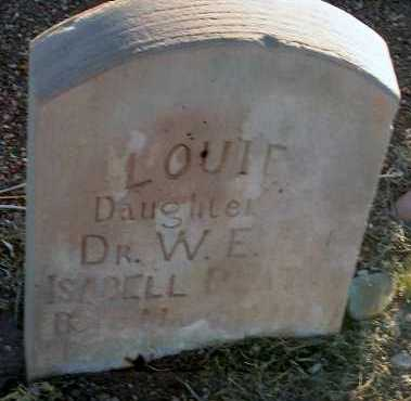 PLATT, LOUIE - Apache County, Arizona | LOUIE PLATT - Arizona Gravestone Photos