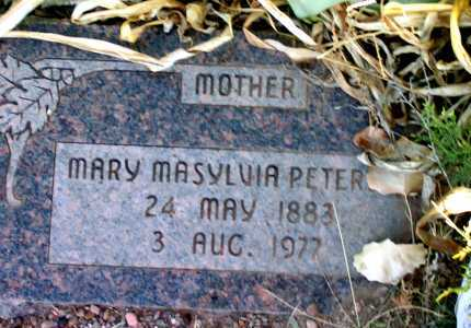 PETERSON PLATT, MARY MASYLVIA - Apache County, Arizona | MARY MASYLVIA PETERSON PLATT - Arizona Gravestone Photos