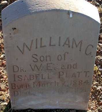 PLATT, WILLIAM C. - Apache County, Arizona   WILLIAM C. PLATT - Arizona Gravestone Photos